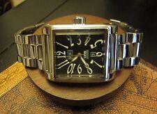 Oris Rectangular Day Date Black Dial Automatic Men's SS Watch