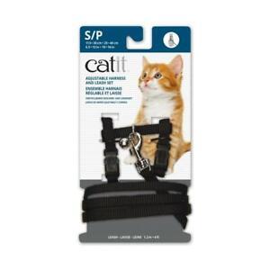 "Black quality ""Cat IT"" cat harness & lead  (AS NEW)  RRP $18.50"