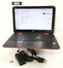 "HP PAVILION 13 X360 13.3"" TOUCH RED LAPTOP i5-4210U 8GB 240GB SSD WIN10 PRO H535"