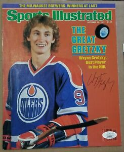 1981 WAYNE GRETZKY SIGNED AUTO  SPORTS ILLUSTRATED SI FIRST COVER OILERS
