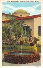 Tijuana B.C. Mexico view of wishing well at Agua Caliente antique pc Y14276