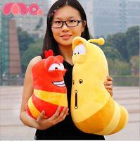Kawaii 2Pcs Korea Hilarious Insect Larva Farting Larva Plush Pillow Toys 30&20cm