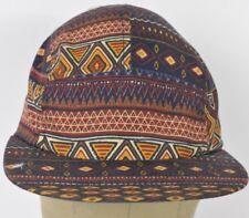 Multi Color 5 Panel Hat Cap Adjustable Strap.