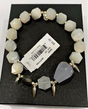 Kendra Scott Sadie Beaded Stretch Bracelet Silver Tone & Ivory Multi