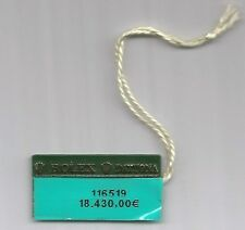Vintage ROLEX Green Hangtag Sello 116519 ROLEX DAYTONA Tag Showcase Seal Tag