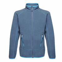 Regatta Ashmore Mens Full Zip Lightweight Fleece Jacket Denim