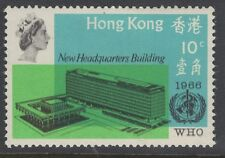 "HONG KONG SG237(CW S34a) 1966 10c WHO ""BLANKET OFFSET OF WRITING & LOGO"" MNH"