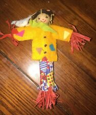 Vintage Handmade Clothes Pin Doll Scarecrow