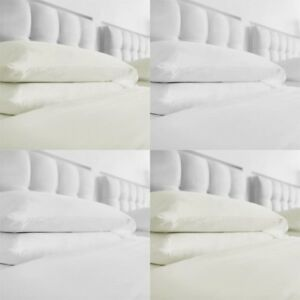 WILKO FITTED BED SHEETS 100% COTTON WHITE & CREAM THERMAL BRUSHED FLANNELLETTE