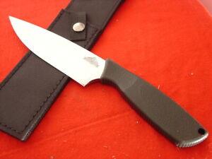 "Ontario USA Made USA 11-1/8"" HUNT PLUS Fixed Blade Sheath Knife"