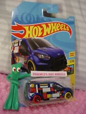 HOT WHEELS FORD TRANSIT CONNECT #224✰blue;red/yellow✰ART CARS S✰2018 i WW Case K
