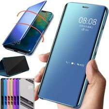 For Huawei P Smart 2021/2020/2019 Z Mirror Flip Case Leather Stand Phone Cover