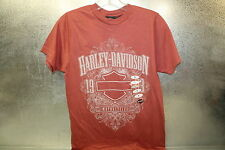New Harley Davidson Crest Mens Basic Fit Rust Short Sleeve Tee Sz Sm Boise,  ID
