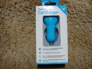 VIBRANT Dual USB 2.1A Car Charger for iPod iPhone Android Smartphones Tablets