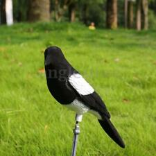 Flocked Decoy Crow Magpie Bird Bait Hunting Trap Shooting Target Hunting Tool US