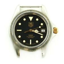 TAG HEUER 1000 980.020B BLACK DIAL PROF 200M S.S. WATCH HEAD FOR PARTS / REPAIRS