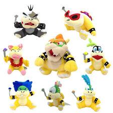 8X Super Mario Bros Plush King Bowser & Koopalings Kids Lemmy Roy Koopa Toy ETC