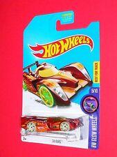 2017 Hot Wheels  24 Ours #-  HW Glow Wheels DVD08-D9B0M  M case  HUNT
