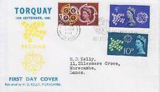 CEPT Europa Großbritannien FDC 346 - 348, gest. 196, first day cover