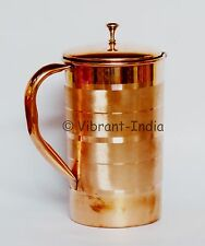 100% Pure Copper Handmade Pitcher jug water health benefit Indian Ayurveda yoga