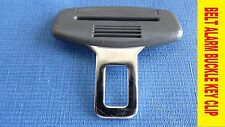GREY SEAT BELT ALARM BUCKLE KEY CLIP SAFETY CLASP STOP