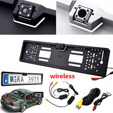 Europe License Plate Frame Wireless Car Camera Reverse Park Night Vision 2.4GHz