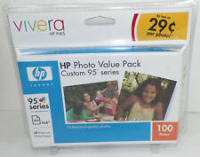 NEW HP 95 TRI-COLOR INK CARTRIGE PHOTO VALUE PACK Q7932AN#140 + 100 PHOTO SHEETS