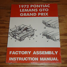 1972 Pontiac LeMans GTO Grand Prix Factory Assembly Instruction Manual 72