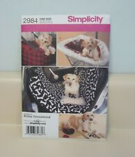 Simplicity #2984 Pattern Dog Puppy Cat Accessories, Toys, Carriers