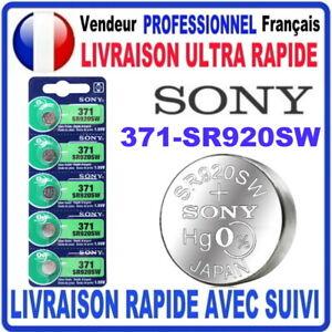 Pile 371-SR920SW AG6 1.55V SONY Pile bouton QUALITÉ PREMIUM SONY MADE IN JAPAN