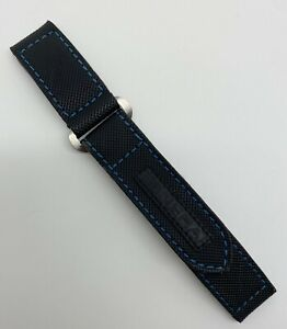 Authentic Rare Officine Panerai 22mm x 22mm Black Textile Watch Diver Strap OEM