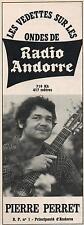 ▬► PUBLICITE ADVERTISING AD RADIO ANDORRE Pierre Perret 23 Avril 1967