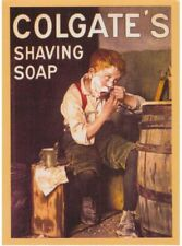 SMALL VINTAGE METAL ADVERTISING SIGN.Colgate's Shaving Soap