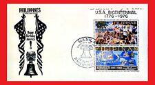 ZAYIX - 1976 Philippines - American Bicentennial FDC - Liberty Bell