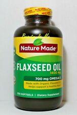 Nature Made Organic Flaxseed Oil 1400mg, Omega 3-6-9, 300 Softgels