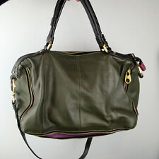OrYany Purse  Leather  Hobo Handbag olive Green purple  bag zip a3