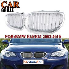 For BMW E60 E61 5 Series 520i 528i 535i 550i M5 All Chrome Grilles Grills 04-10