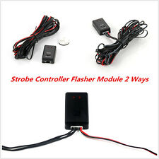 New Car Truck LED Flashing Light Strobe Controller Flasher Module 2 Ways 12V/24V