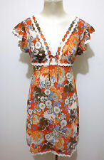CULT VINTAGE '70 Abito Vestito Donna Flower Jersey Woman Dress Sz.S - 42