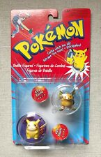 "Pokémon Hasbro Tomy 2"" Figures, Authentic, Vintage, Pikachu & Raichu Sealed"