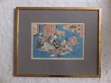 Holzschnitt japan utagawa kunisada oder toyokunia