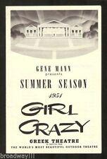 "George Gershwin ""GIRL CRAZY"" Mickey Rooney 1951 Greek Theatre, Los Angeles"