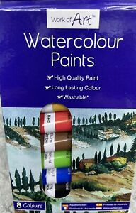 WATER COLOUR PAINTS - 8 COLOURS - BRAND NEW STATIONARY