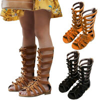 Toddler Girls Kid High-top Shoes Summer Newborn Gladiator Roman Sandal Size 8-11