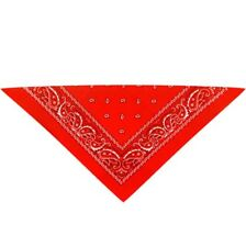 Red Cowboy Necktie / Mexican Bandit Neck Scarf Neckerchief Fancy Dress Costume