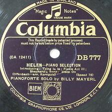 78 tr/min Billy Mayerl Helen-sélection/avez-vous oublié DB 777