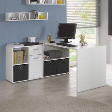 Schreibtisch Lexx Winkelkombination Tisch Bürotisch in weiß variabel montierbar
