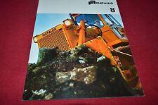 Fiat Allis Chalmers 8 Crawler Tractor Dozer Dealer's Brochure BWPA ver5