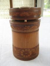Vintage Hand Carved Wood Wooden Ash Tray and Cigarette Holder