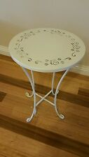 BRAND NEW  METAL TABLE/STAND. PLANTS. TABLE,FRENCH PROVINCIAL LOOKING.